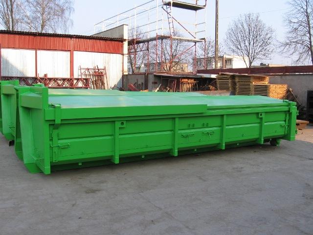PL-benne 10m3 avec toit